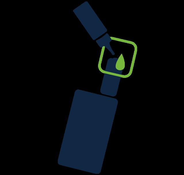 Vaping ikona - napĺňanie zariadenia e-liquidom