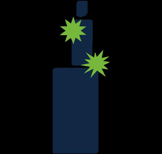Vaping ikona - praskajúci e-liquid