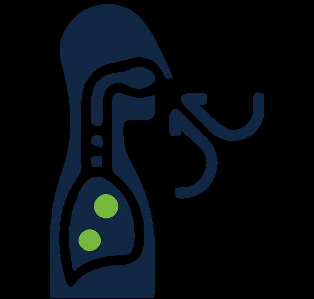Vaping ikona - ťahanie rovno do pľúc