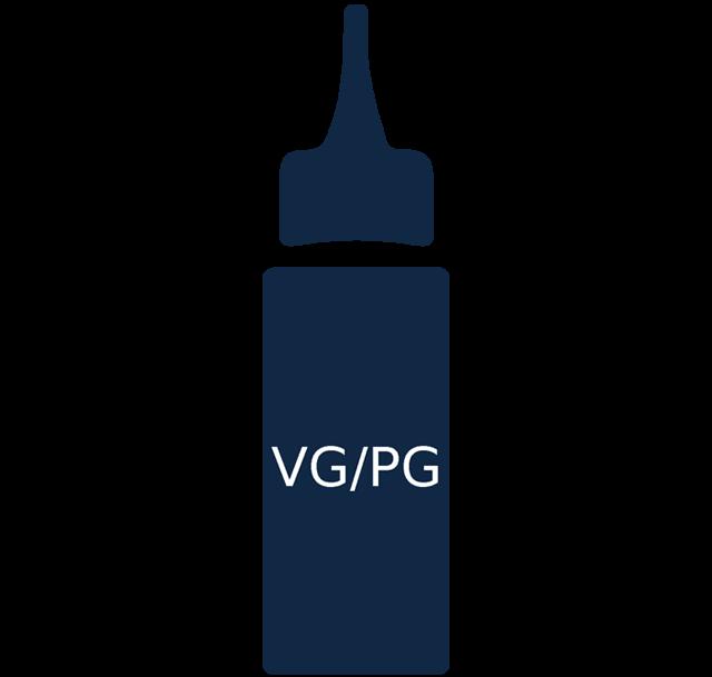 Vaping ikona - pomer rastlinného glycerínu a propylénglykolu